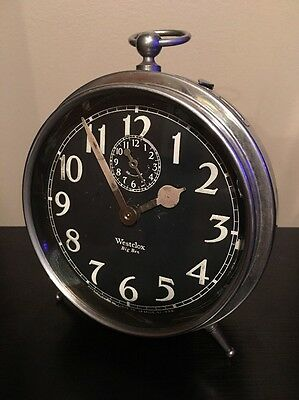 *Antique 1921-35 Westclox Big Ben Style 1a Luminous Peg Leg Windup Alarm Clock*