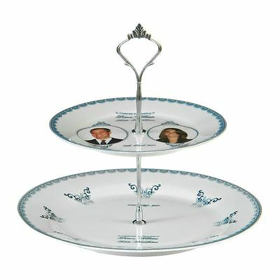 Cake Stand, Royal Wedding 2 Tier Fine Porcelain