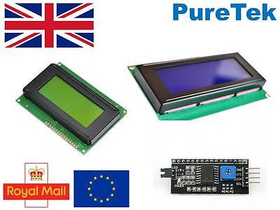 LCD Display Blue Green/Yellow 1602 16X2 or 2004 20X4 HD44780 Arduino RPi ESP8266