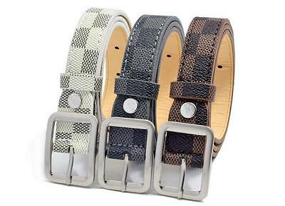 New Fashion Casual Children Frosted Sole Adjustable Belts For Boys Girls