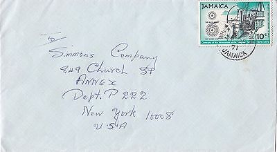 BD256) Nice Jamaica Air Mail cover bearing: 10c Telegraph cent. Price: $6