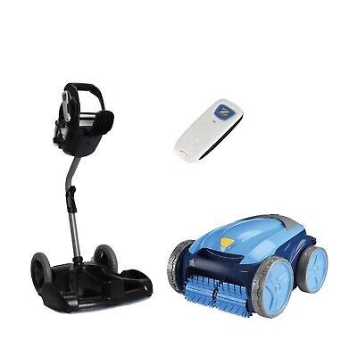 Poolroboter Zodiac Vortex 4 PLUS Bodensauger Schwimmbad Pool incl. Caddy vollaut