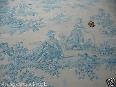Vintage French Bed Cover Toile Bed Cover French Bed Cover Vintage French Fabric