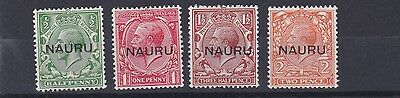 Nauru  1923  S G 13 - 16  Set Of 4 Mh Cat £70