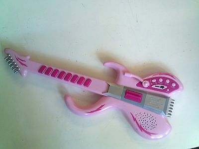 Pink Toy Guitar, Tested, In Good Condition, Trusted Ebay Shop
