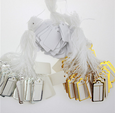 100pcs blank Three color options Labels Jewelry Strung Pricing Price Tags