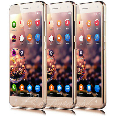 "5.0"" Quad Core Android 5.1 Cell phone 3G Unlocked Smart Mobile Dual SIM GPS New"