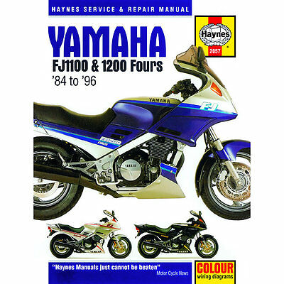 Yamaha FJ1100 FJ1200 Fours 1984-96 Haynes Workshop Manual