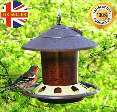 Small Bird Hanging Feeder Lantern Wild Feeding Food Seed Outdoor Garden Station