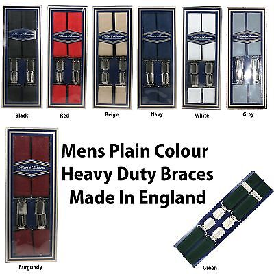 Mens 35mm High Quality Heavy Duty Adjustable Braces Suspenders Made In England