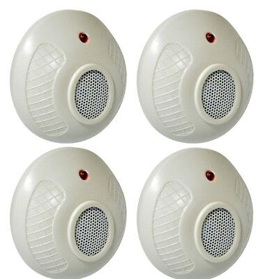 4 Pack Electronic Sonic Plug In Repeller For Rodents Mouse Mice Rat Pest Control