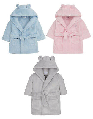 Childrens / Toddlers Soft Fleece Dressing Gown ~ 0-24 Months