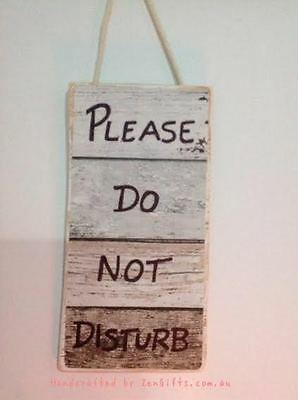 Door Sign, Please Do Not disturb, signs hand crafted free postage Australia