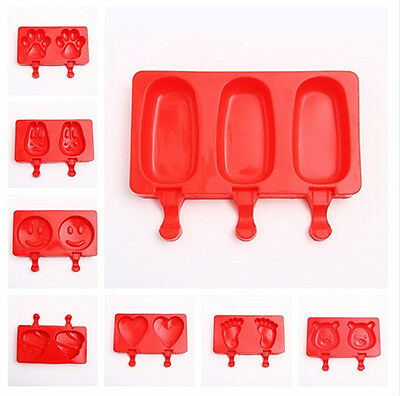 Ice Cream Mold Silicone Ice Lolly Maker Frozen Mould Chocolate Popsicle Tray Pop