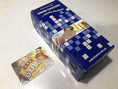 250 XXXX Gold Beer Coasters- Bulk Box of Beer Drink Coaster BRAND NEW