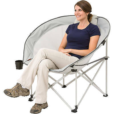 Oversized Cozy Camp Chair Beach Folding Picnic Outdoor Camping Seating Steel