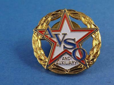 Avso And Auxiliary Wreath Crest Vintage Pin Back Souvenir Collector Button