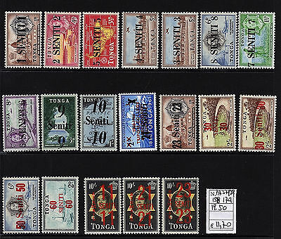 Tonga  timbres anterieures surcharges 1967