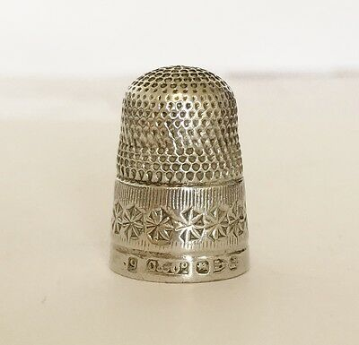 RARE Antique Victorian Solid Silver - Sewing Thimble - CHESTER 1894 - C & Co