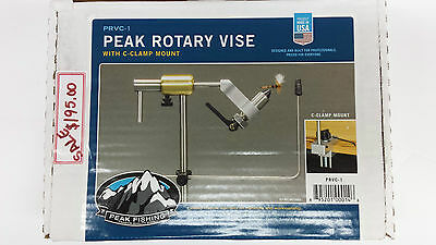 "PEAK ROTARY VISE # PRVC-1 with C-Clamp Mount   FLY TYING VISE  "" SALE """