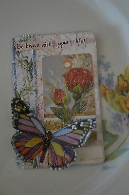 Be Brave With Your Life! - An Altered Playing Card, Mixed Media Fantasy
