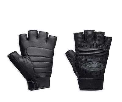 Genuine Harley Davidson Men's Winged Fingerless Gloves 98277-14VM
