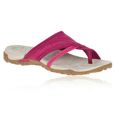 Merrell Terran Post II Womens Pink Walking Outdoors Slides Flip Flops Sandals