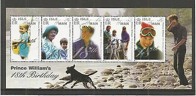 I.o.m 2000 18Th Birthday Prince William M/sheet Sg,ms894 Um/m N/h Lot R388