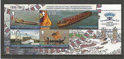 I.o.m 2012 Diamond Jubilee Pageant M/sheet Sg,ms1755 Um/m N/h Lot R395