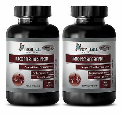 Immune support herbs - BLOOD PRESSURE CONTROL FORMULA - Hibiscus - 2 Bottles