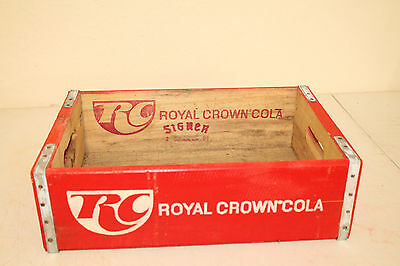 Royal Crown Bottle Crate Vintage Wooden Carrier Advertising Beverage Management