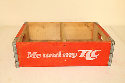 Royal Crown Cola Bottle Crate Vintage Wooden Caddy Carrier Advertising Liter