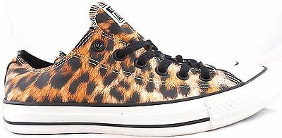 Converse All Star Low Top Cheetah Print Sneakers Unisex Youth Size 2 Brand New