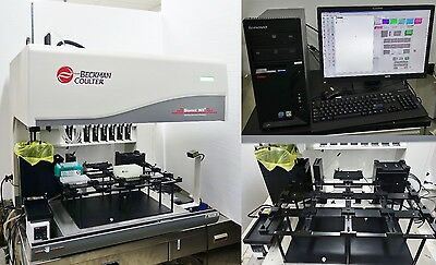 BECKMAN COULTER BIOMEK NXP SPAN-8 LAB AUTOMATION WORKSTATION w GRIPPER,PC NXᴾ S8