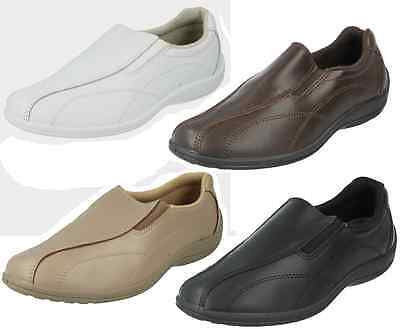 Ladies Tender Tootsies Clinic Confort Leather Side Gusset Slip On Casual Shoes