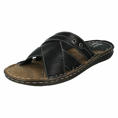 Mens Bata Comfit Casual Slip On Synthetic Summer Sandals Grey 861 2602