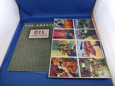 Our America Oil A Modern Necessity Booklet Coca Cola Advertising With Stickers