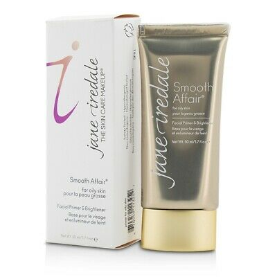NEW Jane Iredale Smooth Affair Facial Primer & Brightener (For Oily Skin) 50ml