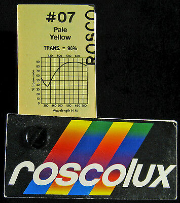 Roscolux 07 Pale Yellow - ONE sheet Rosco Lighting color filter Gel
