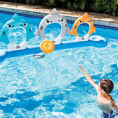 Intex Feed The Sharks Disc Toss In & Outside of Swimming Pool Inflatable Game