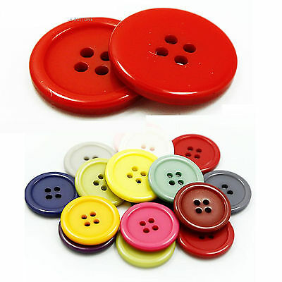 10-25mm Crafts Sewing 4-Hole Flat Resin Button For Coat Shirts Children's DIY