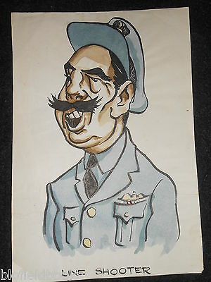 "CLIFFORD LEWIS ""CLEW"" Original Pen & Ink Cartoon - WWII RAF Air Force/Pilot #183"