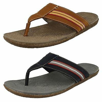 Hush Puppies Frame Mens Toe Post Casual Beach Leather Summer Sandals