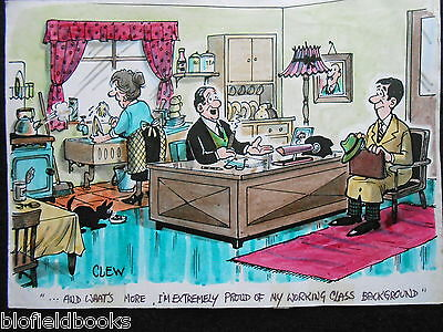 "CLIFFORD C LEWIS ""CLEW"" Original Pen & Ink Cartoon - Working Class Boss #363"