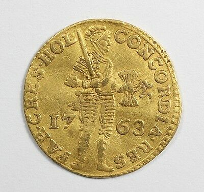 1763 Netherlands Gold Ducat Hand Hammered