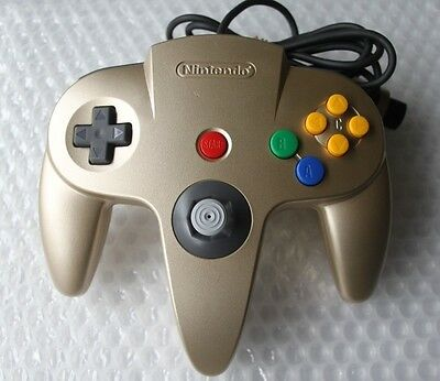 Authentic Nintendo 64 N64 Gold Official Controller OEM Rare Colored Game Pad