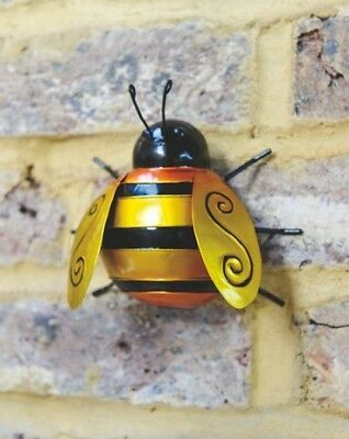 Wall Art Decoration Bumble Bee Garden Patio Fence Display Ornament Home Decor