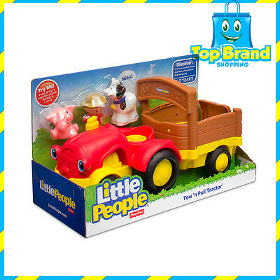 NEW Fisher-Price Little People Tow 'n Pull Tractor 1 - 5 years