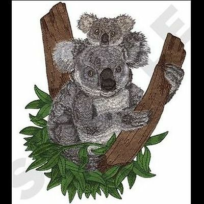 """Koala Mom & Baby Embroidered Patch 7.8"""" x 9.7"""""""