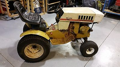 Tractor Vintage Sears Craftsman Riding Lawn Garden Pulling Tractor Cast Iron